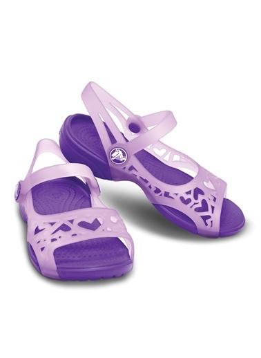 Crocs Adrina Hearts Sandal C Sandalet Lila